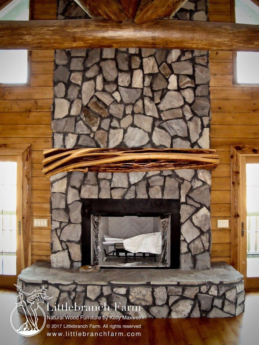 Rustic Fireplace Mantels Mantel Littlebranch Farm