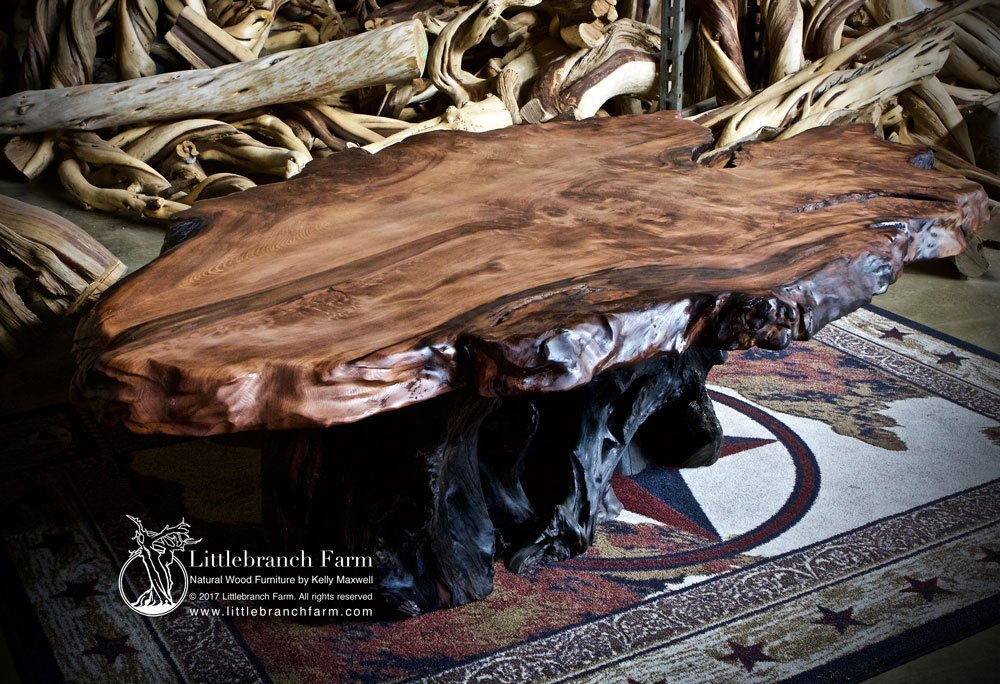 Natural Wood Coffee Tables Rustic Coffee Table Littlebranch Farm