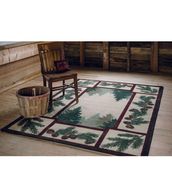 Pine tree area rug