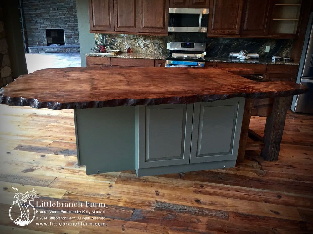 Genial Slab Wood Countertop Live Edge ...