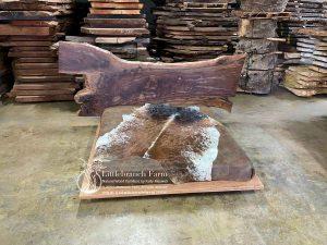 Claro walnut rustic modern platform bed