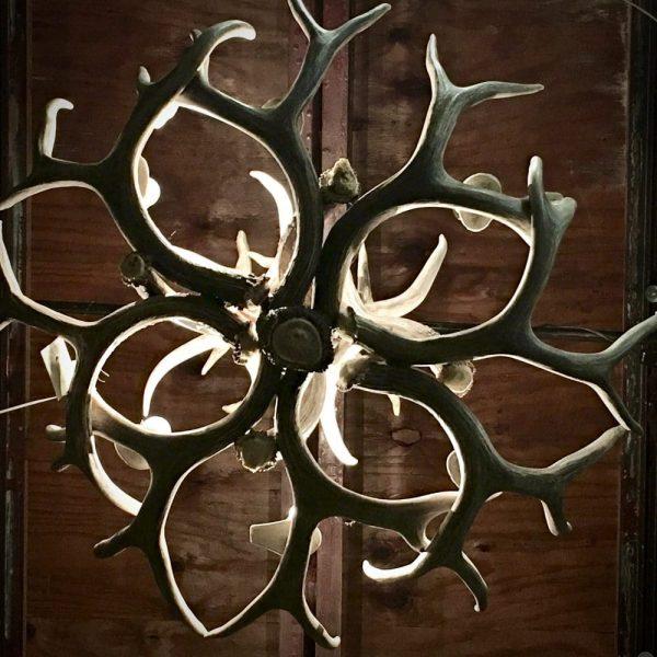 Antler chandelier detail