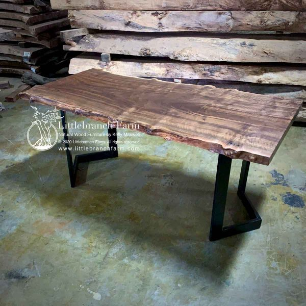 Slab dining table with modern meal table legs