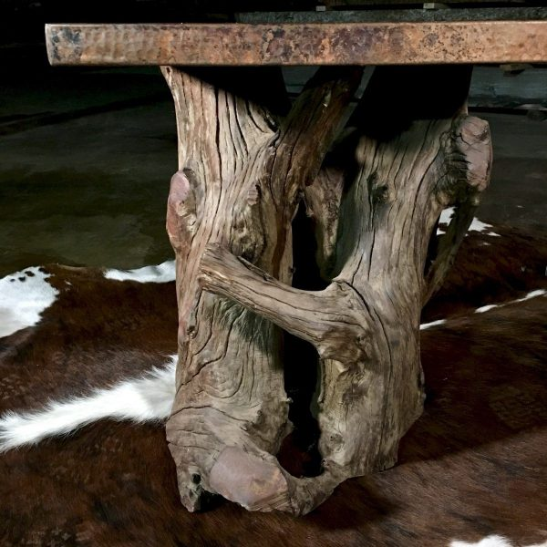 rustic table root base