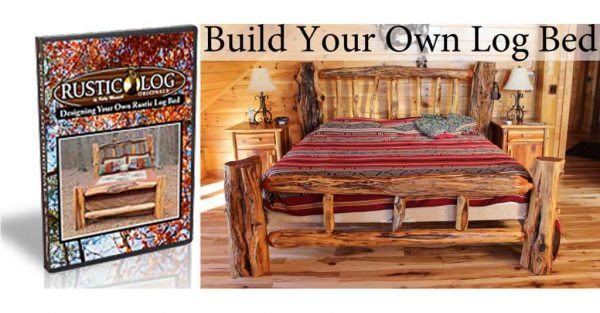 Rustic log originals how the build a log bed