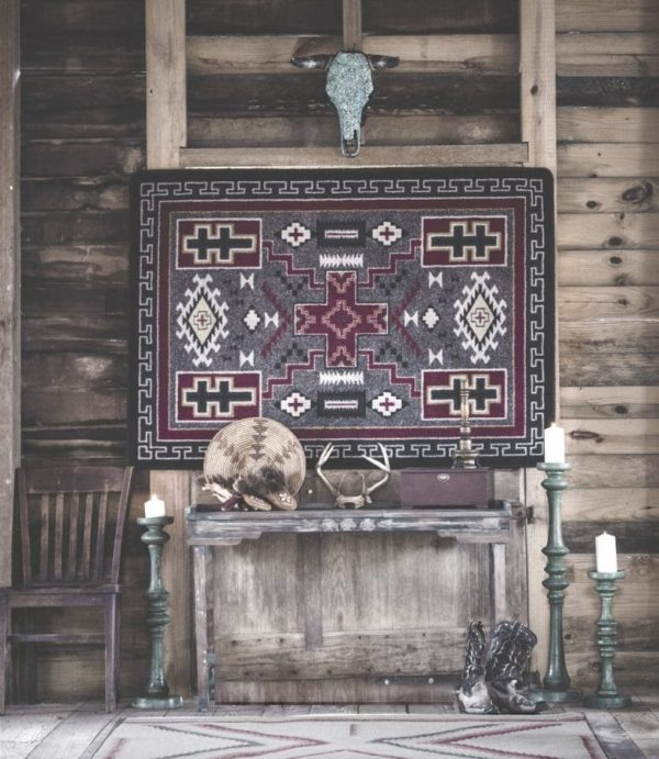Area rug as wall hanging