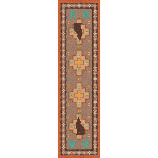 southwest rug with cactus and coyotes