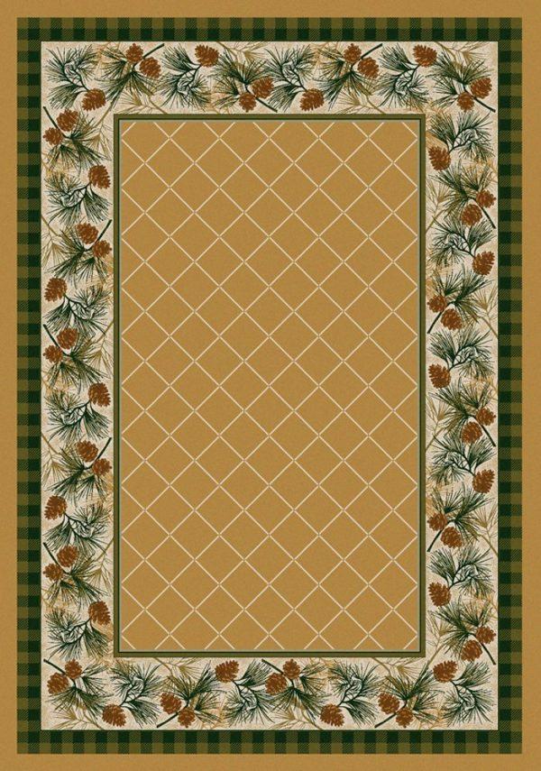 log home area rug