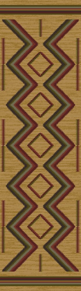Yellow southwestern area rug