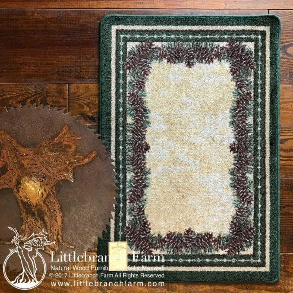 Pine cone rug