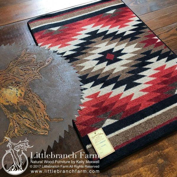 saw blade and rug