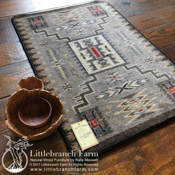 Southwestren gray rug