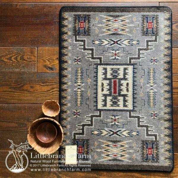 gray aztec rug
