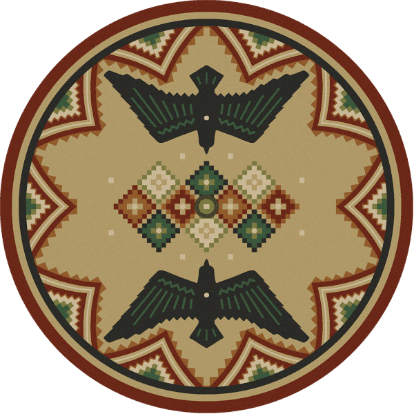 Southwest phenix round rug