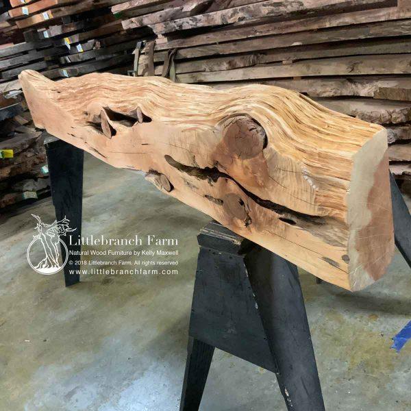 Live edde wood plank.