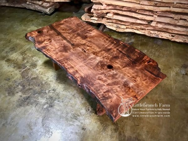 Redwood table.