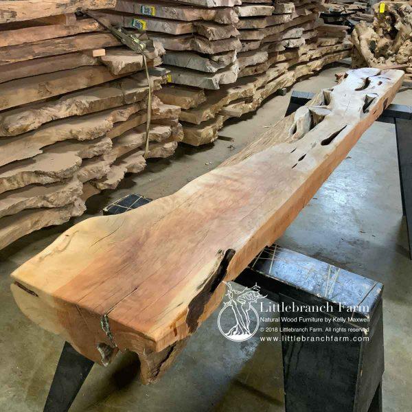 Western juniper wood mantel.