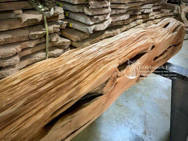 Raw live edge wood.