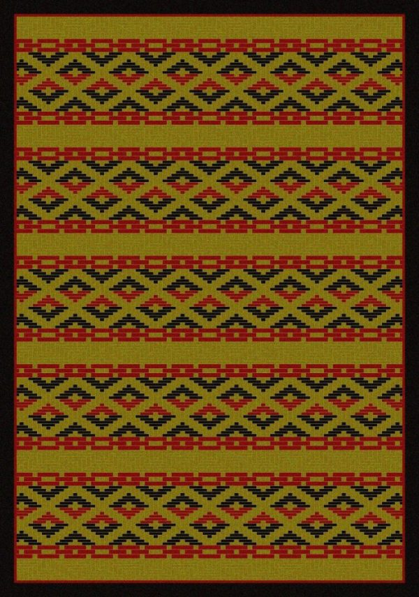 Cherokee patterned southwestern rug