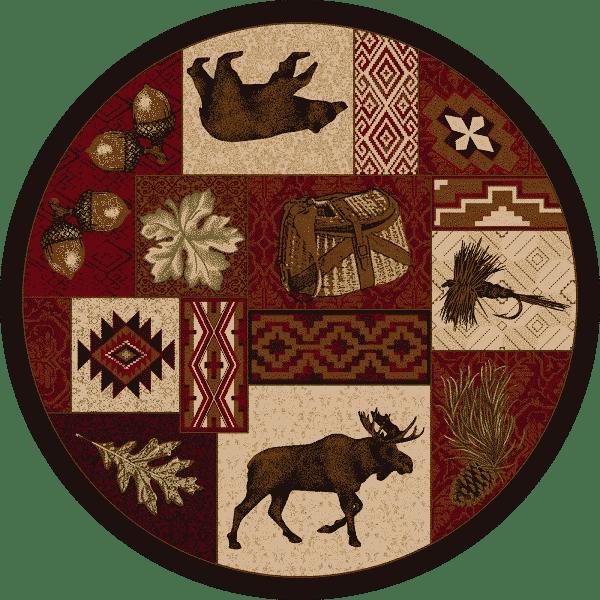 cabin life area rug