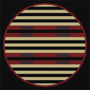 Round stripped rug