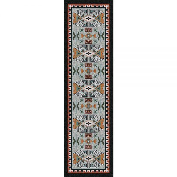 southwest rust runner rug