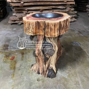 eastern red cedar stump log vanity