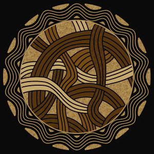 Round western area rug