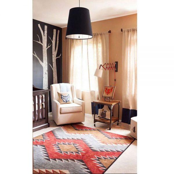 Nursery room scene and rug