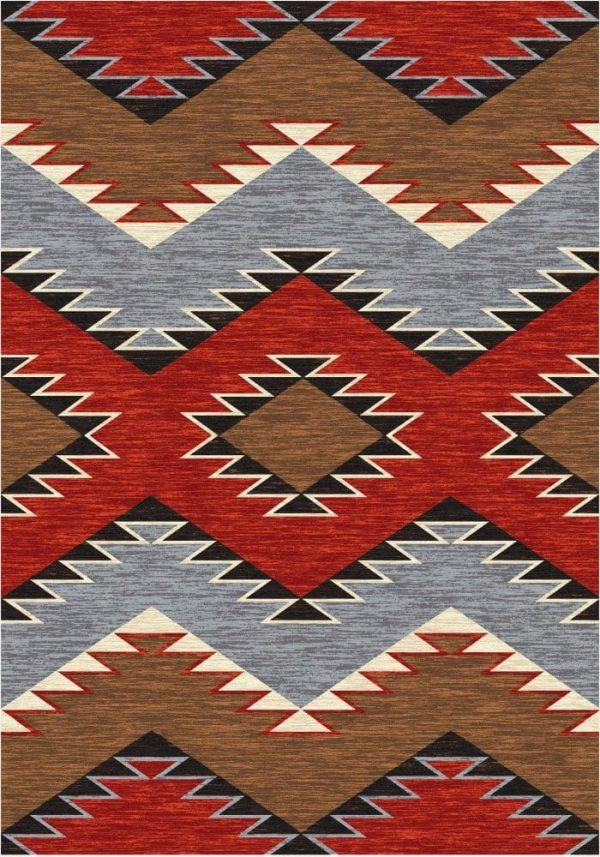 rustic heritage area rug