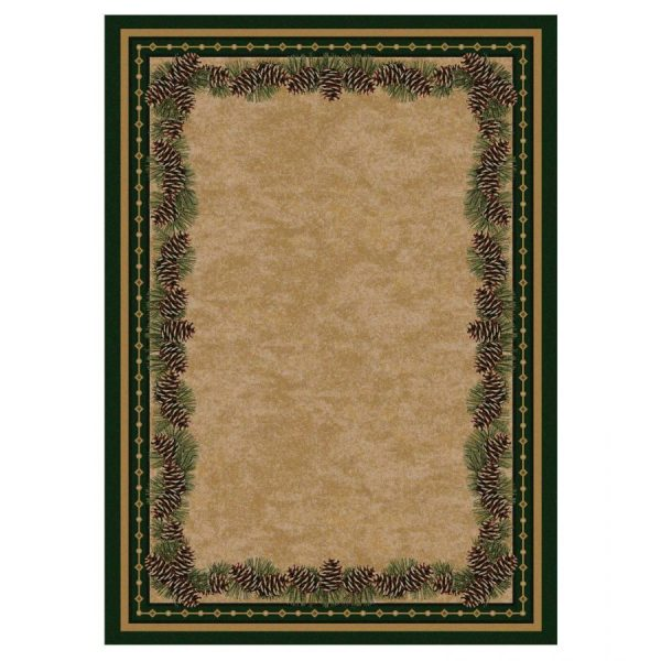 Pine cone cabin rug