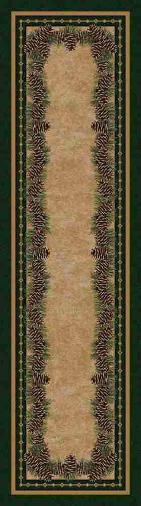 Green pine rug