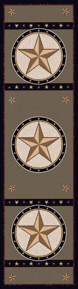 Sage colored Texas star runner rug