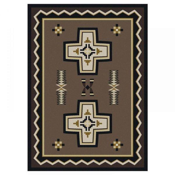 Brown southwest rug design