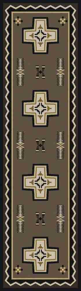 Southwest cross runner rug