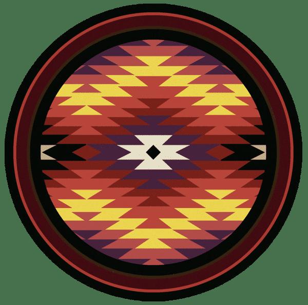 8' round southwest rug