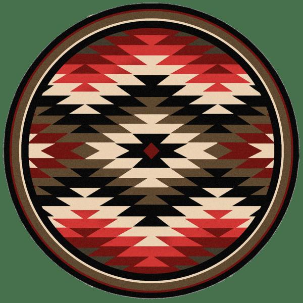 Round Starburst area rug