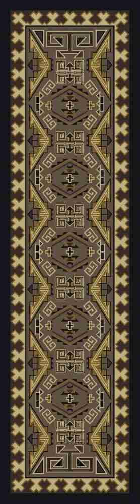 Sage green runner rug
