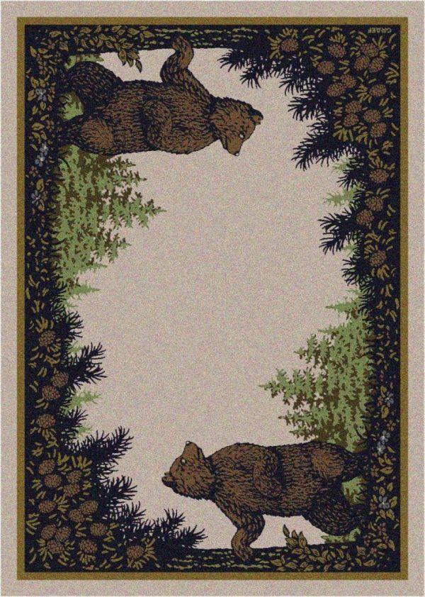 Bear cabin area rug