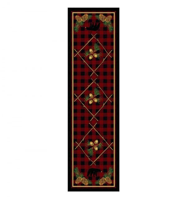 Deep woods area rug in 2x8 runner