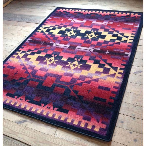 Saddle blanket designed rug.
