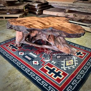 Redwood burl coffe table