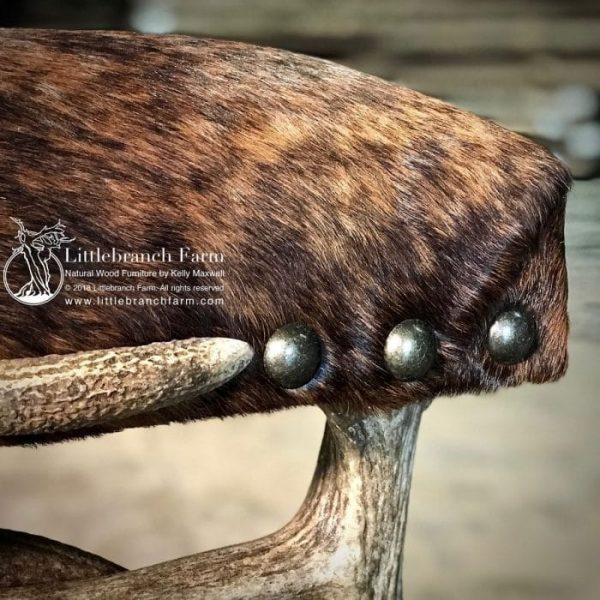 Detail of antler furniture