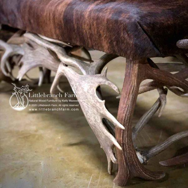 Antler furniture design detail.