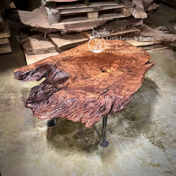Live edge floating coffee table