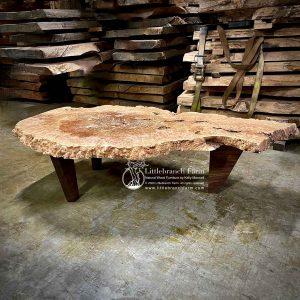Maple burl live edge coffee table