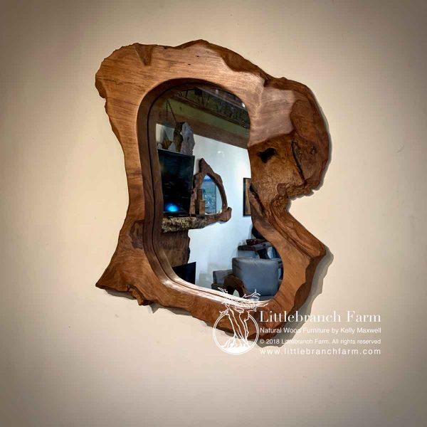 Raw Edge Wood Mirror