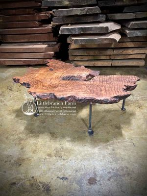 Live edge floating coffee table.