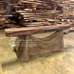 wood slab rustic mantel