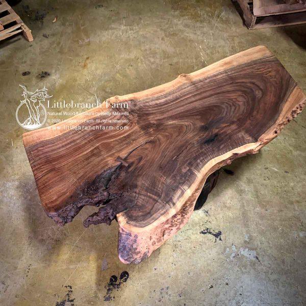 Walnut live wood slab.